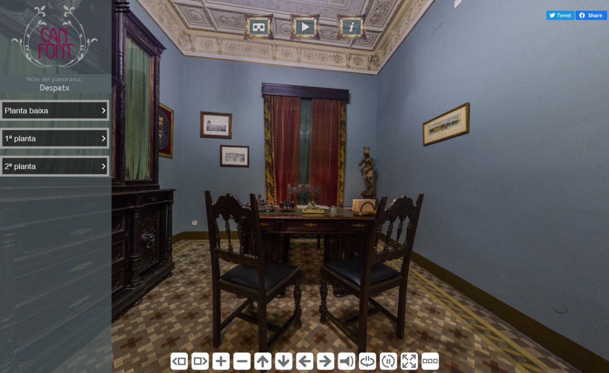Tour virtual Can Font museum house